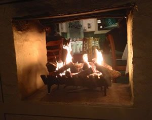 Enjoy the warmth of the Rubira's Fireplace